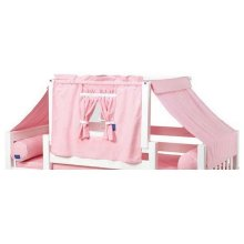 Top Tent Fabric (Twin) : Soft Pink/White