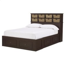 Cubby 6-Drawer Admiral Bed - King