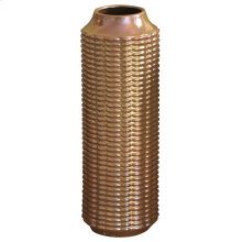 LENNON VASE- LARGE  copper Finish on Ceramic