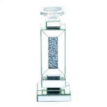 13.5 inch tall Crystal Candleholder Silver Royal Cut Crystal