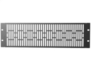 Black 3U Steel Vented Blanking Panel; Fits all Component Series AV racks Product Image