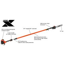 PPT-2620H Gas In-Line Handle Power Pruner & Pole Saw ECHO X Series
