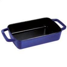 "Staub Cast Iron 15x10"" Roasting Pan, Dark Blue"