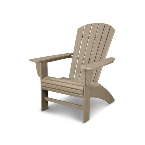 Vintage Sahara Nautical Curveback Adirondack Chair in Vintage Finish