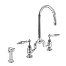Sancerre Bridge Kitchen Faucet with Sidespray and 486 Handle