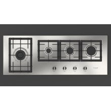 """44"""" GAS COOKTOP - STAINLESS STEEL"""