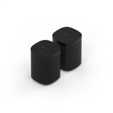 Black- A pair of powerful smart speakers for rich sound in up to two rooms.
