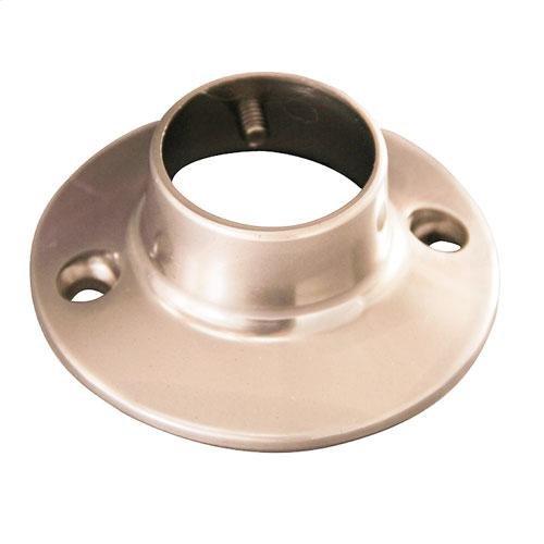 Round Shower Rod Flange - Brushed Nickel