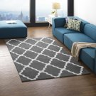 Marja Moroccan Trellis 5x8 Area Rug in Charcoal and Ivory Product Image