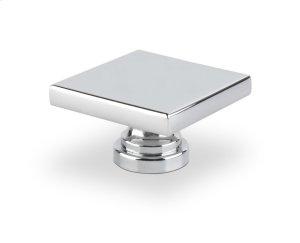 Large Square Knob Bright Chrome Product Image