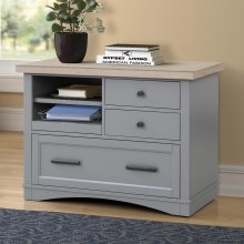 Americana Modern Dove Functional File with Power Center