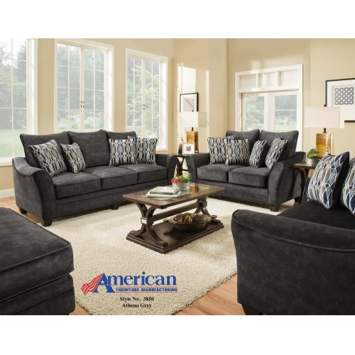 3850 - Athena Gray Loveseat