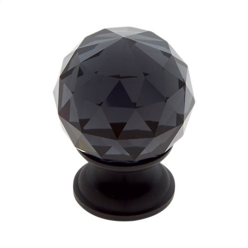 Oil Rubbed Bronze 30 mm Round Faceted Knob