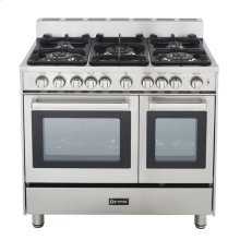"Stainless Steel 36"" Gas Double Oven Range"