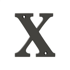 """4"""" Residential Letter X - Oil-rubbed Bronze Product Image"""