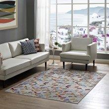 Laleh Geometric Mosaic 4x6 Area Rug in Multicolored