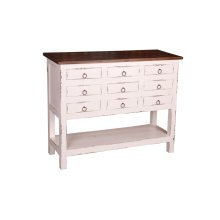 CC-CHE044TLD-WWRW  Cottage Cabinet  White  Raft wood
