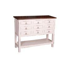 CC-CHE044TLD-WWRW  Cabinet  White  Raft wood