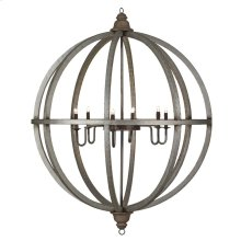 Infinity 4' Globe Chandelier w/ 6 Lights w/ Tin