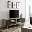 """Tread 70"""" Media Console TV Stand in Natural Gray Product Image"""