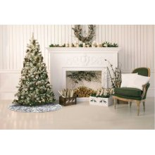 "Home for the Holiday Vv920 Silver 50"" Rnd Holiday Accessory"