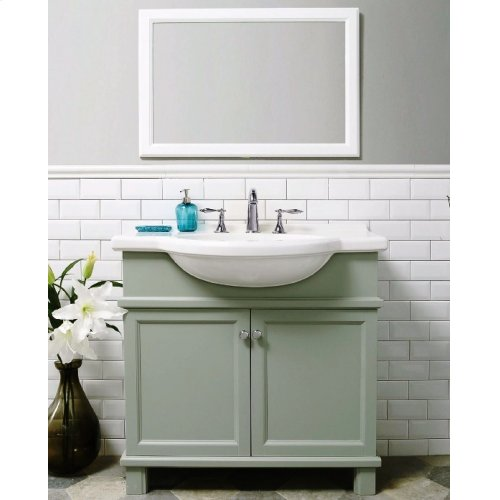 Espresso NOUVEAU 34-in Single-Basin Vanity Cabinet with Lavatory
