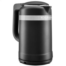 1.5 Liter Electric Kettle with dual-wall insulation - Black Matte