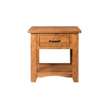 Rustic Collection End Table, Honey Tobacco