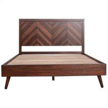 Piero Chevron Queen Bed Set, Java