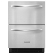 Floor Model - 5.1 Cu. Ft. 24'' Double-Drawer Refrigerator Architect® Series II - Stainless Steel
