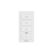 White- The remote control for a single Sonos speaker or group of speakers.