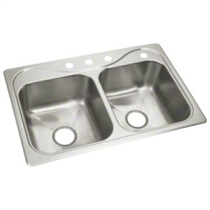 """Southhaven® X Double-basin Sink, 33"""" x 22"""" x 8-1/2"""" Product Image"""