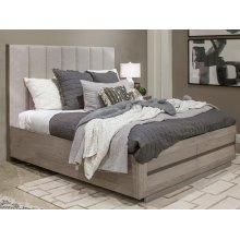 Complete Cal.King Upholstered Bed w/Storage FB