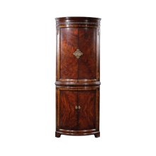 Mahogany Curved Corner Drinks Cabinet
