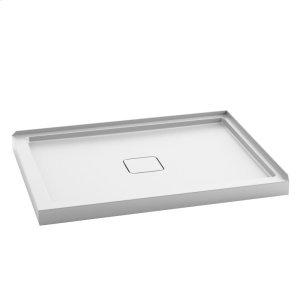"""Rectangular acrylic shower base 48"""" x 36"""" - Centered drain Product Image"""
