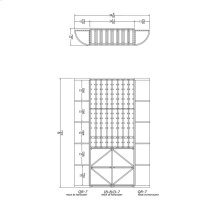 Apex 7' Mahogany Wine Rack Kit (QR-7, IB-B/D-7, QR-7) - READY TO SHIP