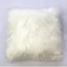 Fox faux fur pillow - White Rug