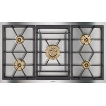 "Vario gas cooktop 400 series VG 491 210 CA Stainless steel Width 36"" Equipped for natural gas."