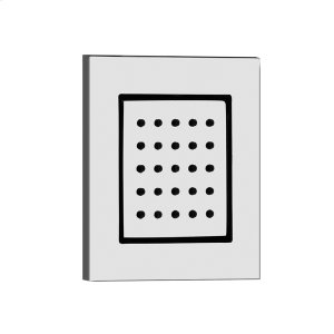 """TRIM PARTS ONLY Square in-wall pivotable body spray 1/2"""" connections Requires in-wall rough valve 32987 Max flow rate Product Image"""
