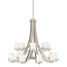Hendrik 15 Light Chandelier Brushed Nickel