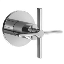 Stoic Wall Valve Trim Only - Cross Handle - Polished Chrome
