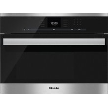 DG 6600 Built-in steam oven with a large text display and SensorTronic controls for extra convenience.