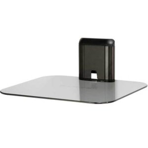 Black On-Wall AV Shelf for Components Up to 15 lbs