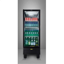 Commercially approved 24 inch wide beverage merchandiser with frost-free operation