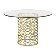 "48"" Interlaced Gilded & Glass Dining Table"