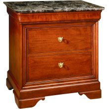 Marble Top La Rochelle Night Stand