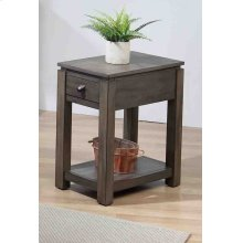 DLU-EL1603  Narrow End Table with Drawer and Shelf  Gray