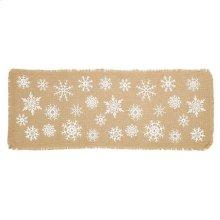 Snowflake Burlap Natural Runner 13x36