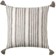 Flagstone Pillow, PEWTER, 22X22