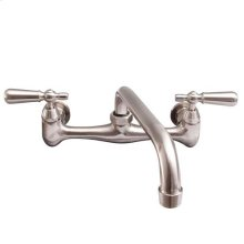 Dollie Wall Mount Kitchen Faucet - Brushed Nickel / Without Soap Dish